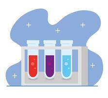 set laboratorium reageerbuizen vector