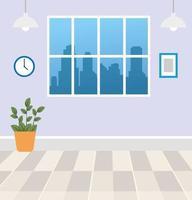 interieur appartement achtergrond vector
