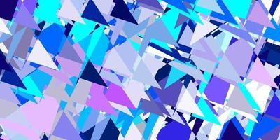 lichtroze, blauwe vectorachtergrond met driehoeken, lijnen. vector