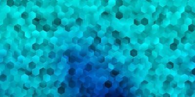 lichtblauwe vectorachtergrond met zeshoekige vormen. vector