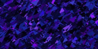 donkerpaars, roze vectormalplaatje met driehoeksvormen. vector