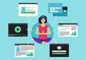 web virtueel sociaal netwerk vector