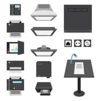 kantoor en presentatie pictogrammen
