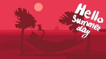 hallo zomer concept vector