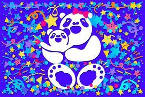 moederdag met berenfamilie vector