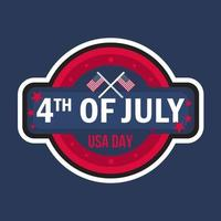 4 juli-dag vector