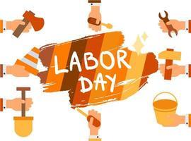 dag van de Arbeid. 1 mei vector