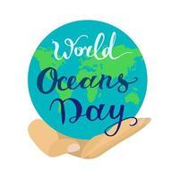 wereld oceaan dag vector