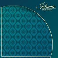 islamitische ontwerpsjabloon wenskaart achtergrond