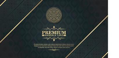 luxe donkere mandala achtergrond met decoratieve frames vector