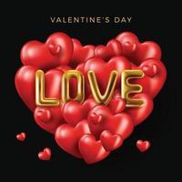 gelukkige Valentijnsdag banner vector