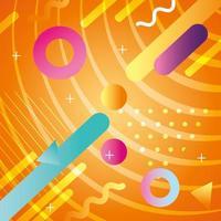 kleurrijke geometrische en abstracte achtergrond met pictogrammen vector