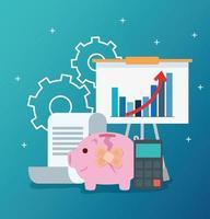 infographic van financieel herstel vector