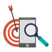 zoeken met het smartphonepictogram vector