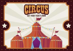 circustent met belettering entertainment poster vector