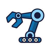 Robot cyborg geïsoleerde handpictogram vector
