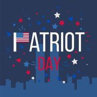 patriot dag banner vector