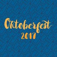 oktoberfest belettering badge vector
