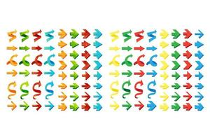 geïsoleerde driehoek veelhoekige pijlen instellen