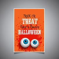 Grunge stijl Halloween achtergrond vector
