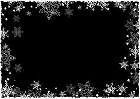 Kerstmis sneeuwvlok rand