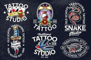 old school tattoo vector emblemen
