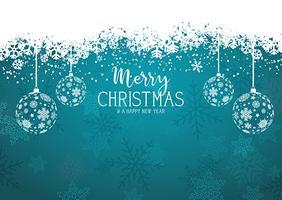 Decoratieve Kerstmis en Nieuwjaar achtergrond met hangende snuisterij vector