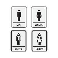 wc toilet mannen en vrouwen ondertekenen vector