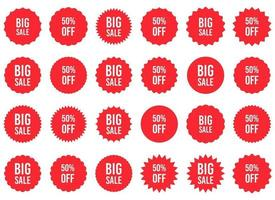 grote verkoop sticker vector ontwerp illustratie set geïsoleerd op een witte achtergrond