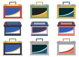 auto batterij vector ontwerp illustratie set geïsoleerd op een witte achtergrond