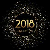Gelukkig Nieuwjaar confetti achtergrond vector
