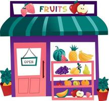 cartoon fruit winkel vector