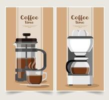 koffie- / theevoorzieningen banner ontwerpset