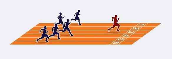 sprinter op de atletiekbaan vector