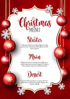 Kerst menu ontwerp achtergrond