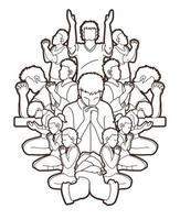 groep gebeden overzicht vector