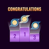 set van fantasy game ui leaderboard award rank voor gui asset elementen vector illustratie