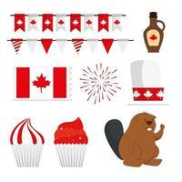 Canada dag ontwerpelementen, vector set