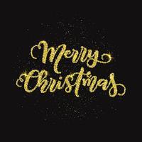 Schitter vrolijk kerst achtergrond vector