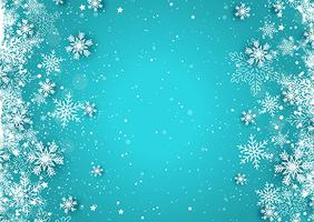 Kerst sneeuwvlokken vector