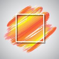 Wit frame op aquarel achtergrond vector