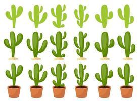cactus decorontwerp illustratie set geïsoleerd op een witte achtergrond vector