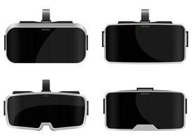 virtuele bril vector ontwerp illustratie geïsoleerd op een witte achtergrond