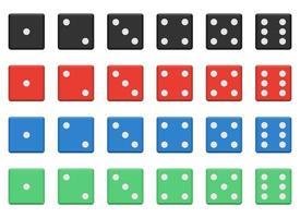 set van casino dobbelstenen vector ontwerp illustratie geïsoleerd op een witte achtergrond
