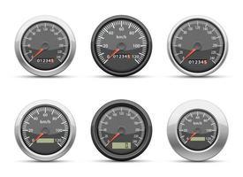 snelheidsmeter vector ontwerp illustratie set geïsoleerd op een witte achtergrond