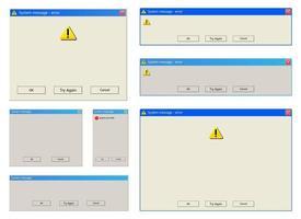 waarschuwingsbericht vector ontwerp illustratie geïsoleerd op een witte achtergrond
