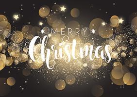 Kerstmisachtergrond van bokehlichten vector