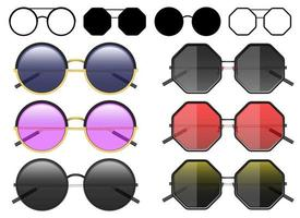 hipster zonnebril vector ontwerp illustratie geïsoleerd op een witte achtergrond
