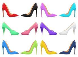 hoge hak schoenen ontwerp vectorillustratie geïsoleerd op een witte achtergrond vector