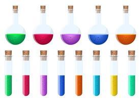 laboratorium chemische kolven vector ontwerp illustratie geïsoleerd op een witte achtergrond